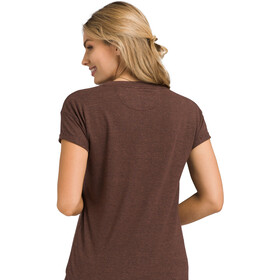 Prana Cozy Up T-Shirt Dames, cocoa heather
